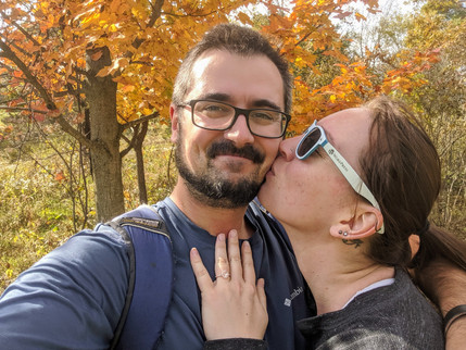 got engaged on our dogs gotcha day hike