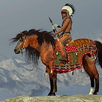 indian-native-american-horseback-on-clif