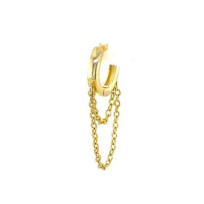 Single Gold Hoop Chain