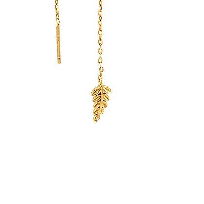 Single Gold Leaf Threader