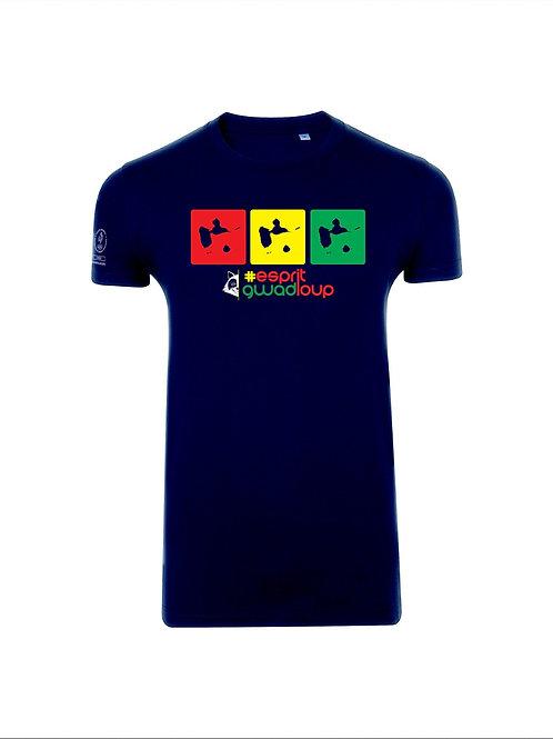 T-shirt Esprit Gwadloup navy/color map