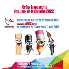 Concours mascotte des Jeux de la Caraïbe 2022