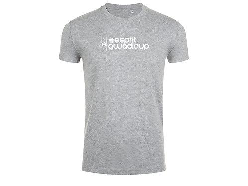 T-shirt Esprit Gwadloup gris chiné