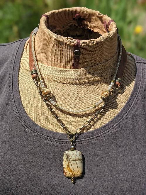Multi-media necklace
