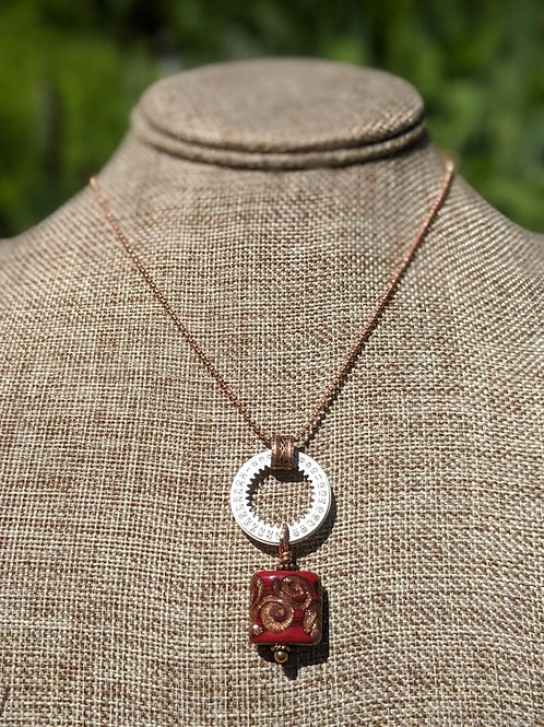 Vintage watch ring necklace