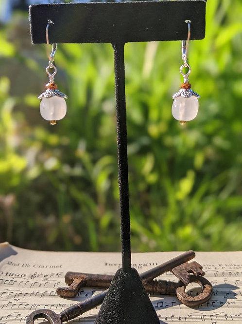 Vintage Japanese glass earrings