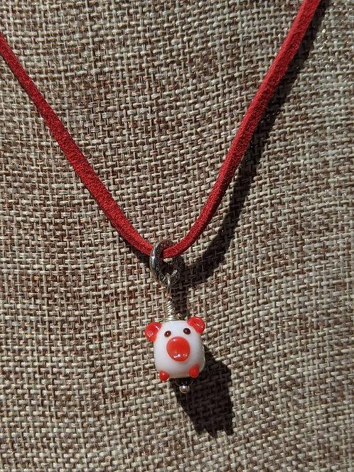 Pig pendant necklace