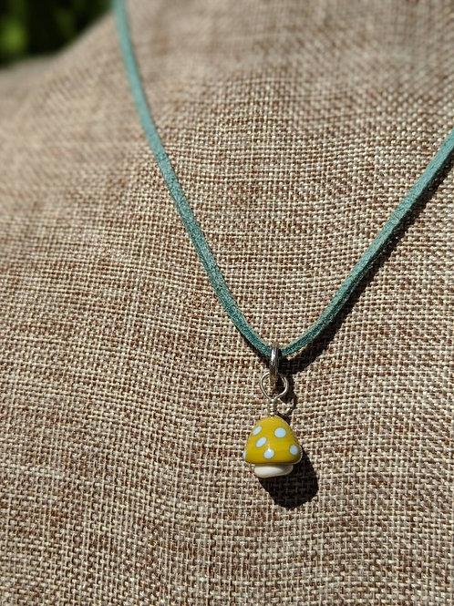 Glass mushroom pendant