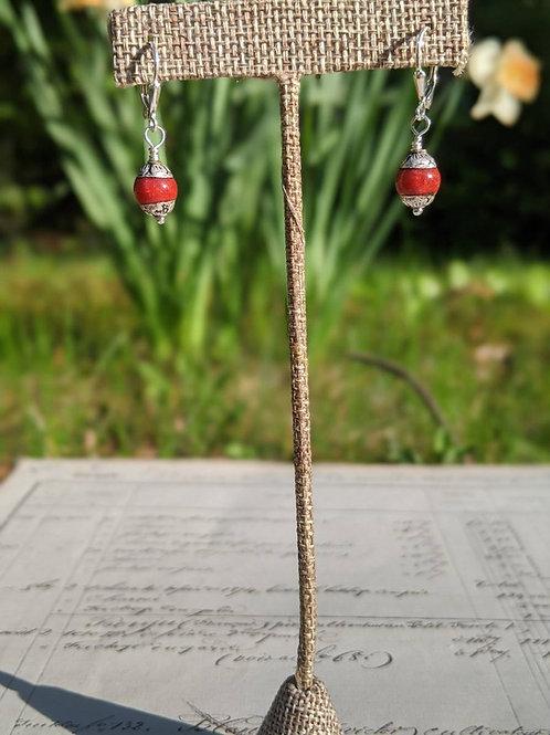 Red Nepal earrings
