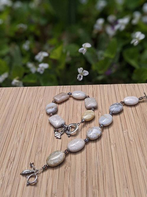 Petoskey agate bracelets
