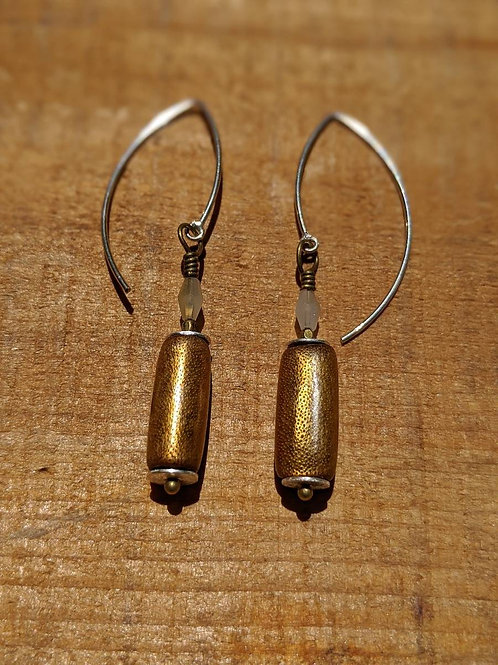 Round bronze earrings