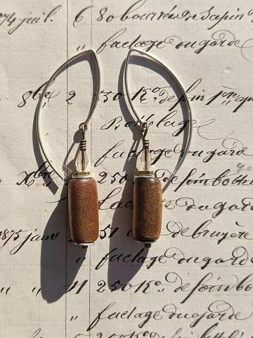 Round bronze earrings