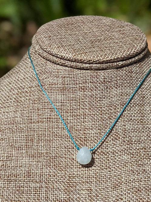 Minimal teardrop pendant choker necklace