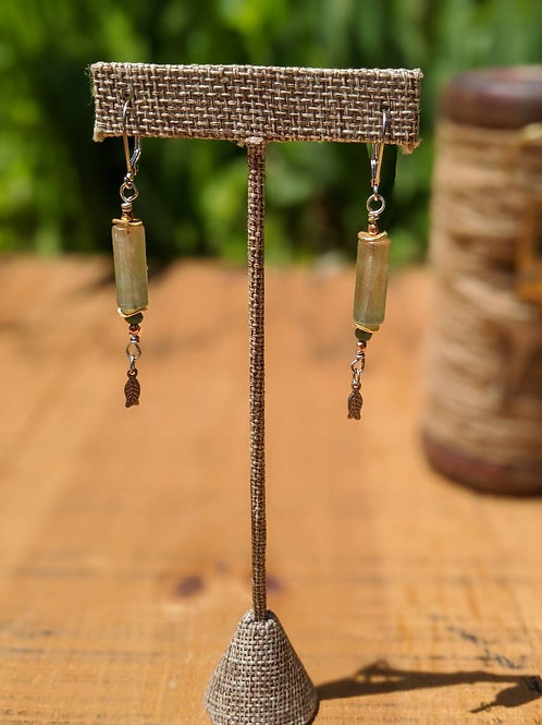 Round tourmaline earrings