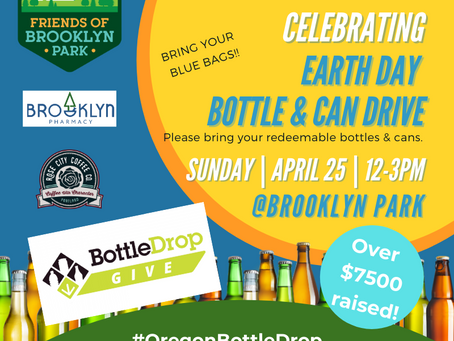 Bottle Drop Drive Celebrating Earth Day