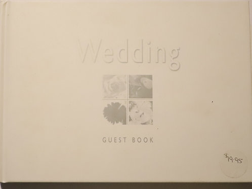 White Wedding Guest Book