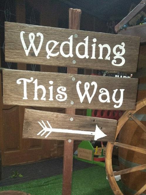 Wedding this way sign