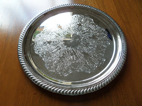 Round Silver Tray