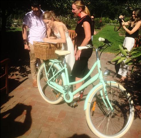 Cute bike, can I borrow it?