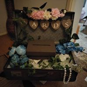 Suitcase Wishing Well or Card Box