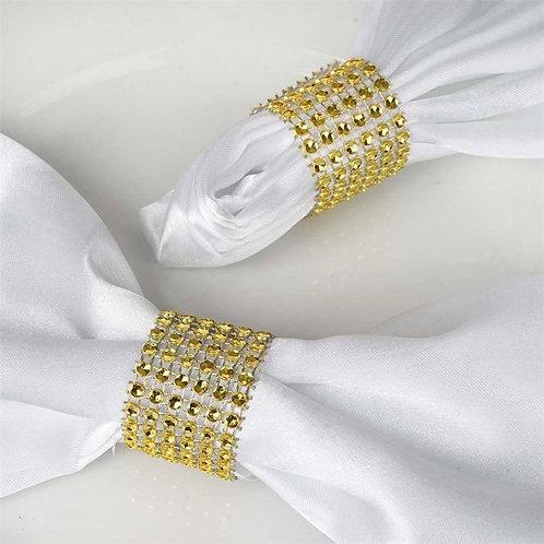 10pk Napkin Rings - Silver Mesh Design