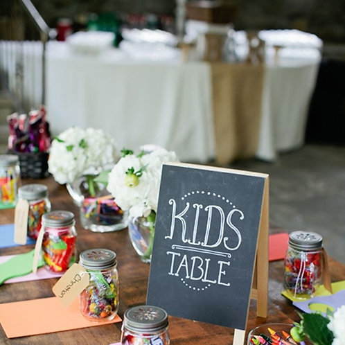 Kids table sign