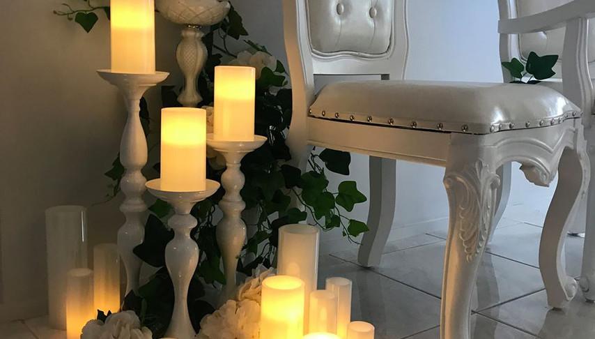 White Candle Sticks