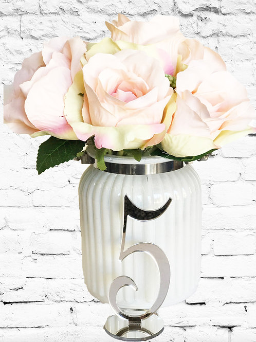 Silver Mirror Table Numbers 1-10