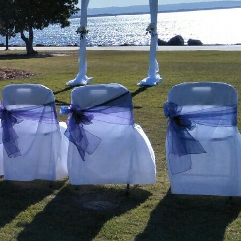 Ceremony Chairs - foldup/cover & sash set of 10