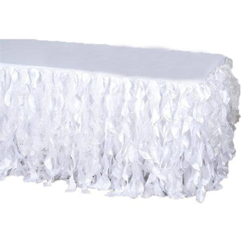 Wispy Taffeta Skirting 5.2m - White