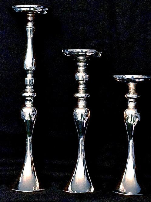 Single Stem SILVER Candelabra Stick