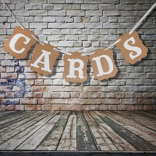 Vintage Cardboard Signs- CARDS