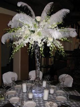 Feather Table Arrangements from
