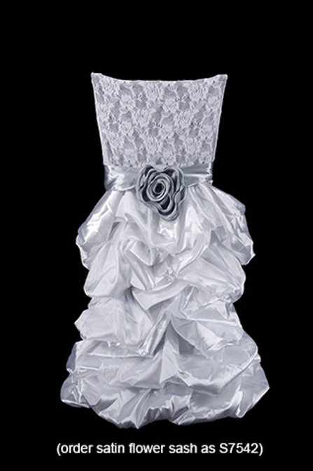Silver Luxury Chair Cover
