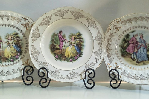 Vintage Pictured Cake Plate