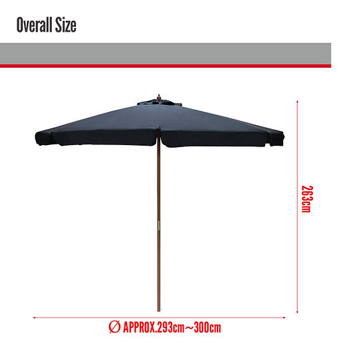 Umbrellas for hire with stand