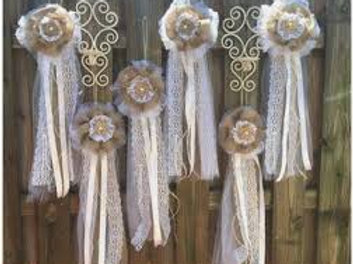 Hessian hanging Pews set of 6