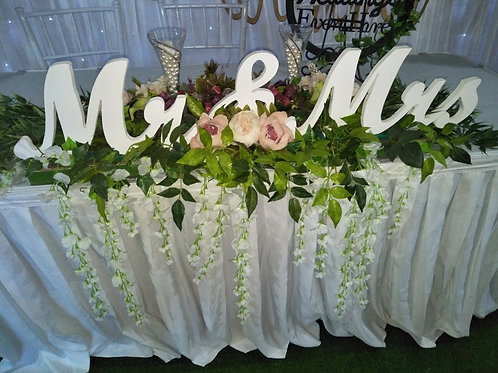 Mr & Mrs Bridal Table Garland