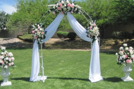 Wedding Arch/draping & flowers