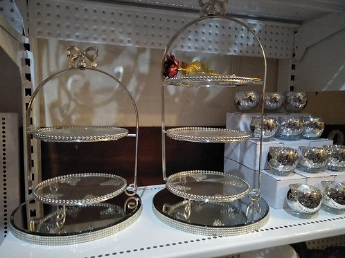 Silver cake stand from: