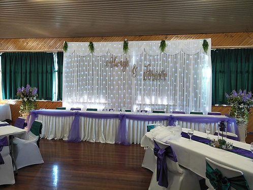 Backdrop Scallop 6x3mtr H with fairylights