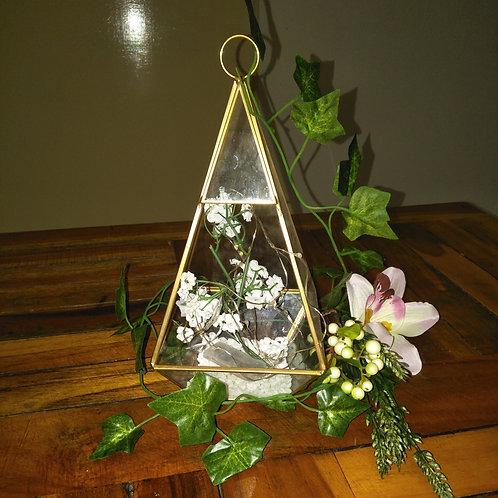 Hanging Glass Terrarium Prism