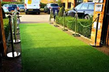 Artificial Grass Aisle or for the bride to stand on