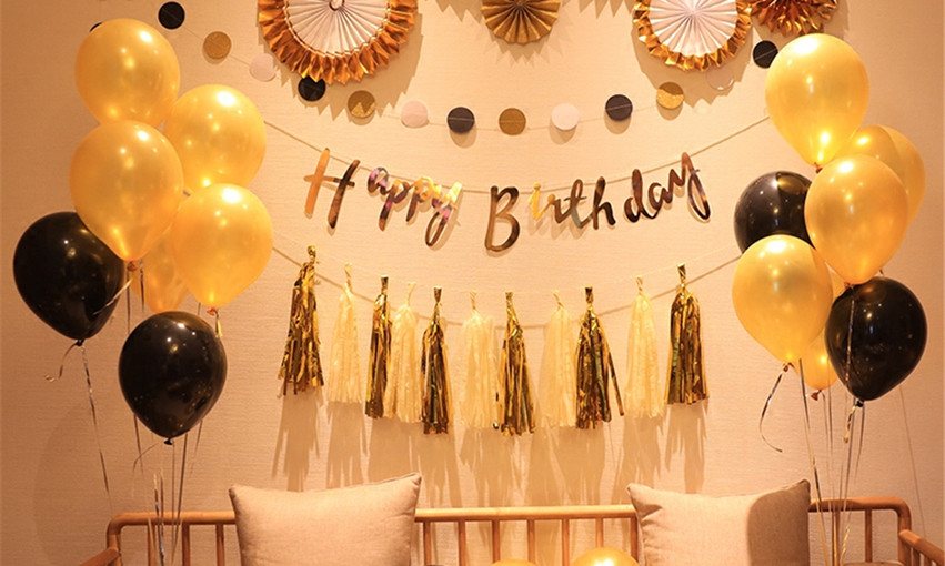 Creative-Black-Gold-Balloon-Happy-Birthd