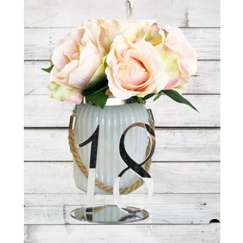Silver Mirror Table Numbers 1-20