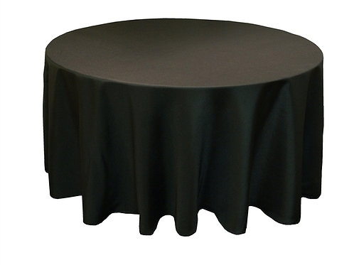 305cm 250gsm Poly Round Tablecloth - Black