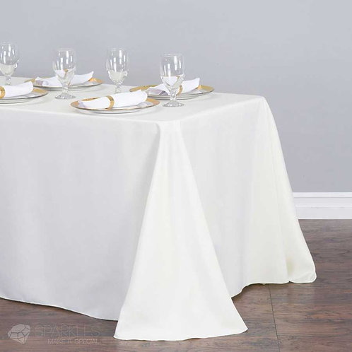 Tablecloth Rectangle - White