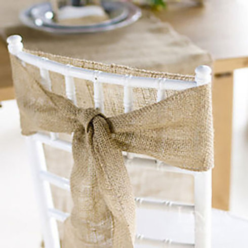 10pc Jute Natural Chair Sash