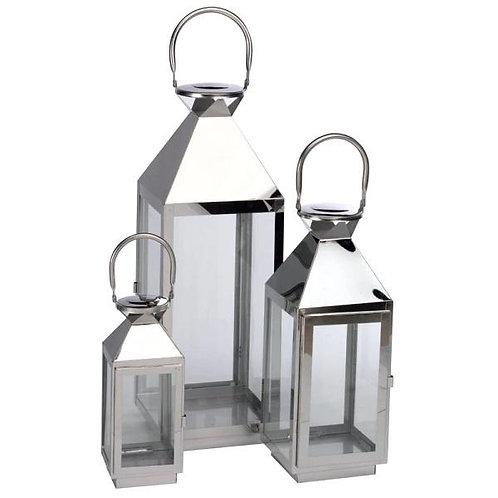 Silver Lanterns Set of 3