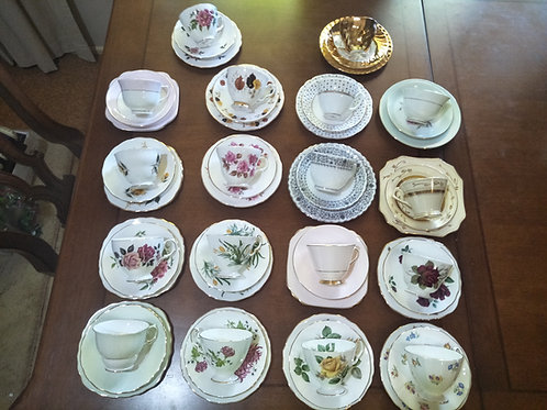 Trio's - Cup-Saucer & plate